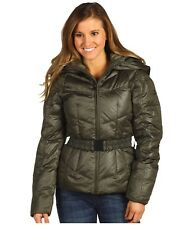 THE NORTH FACE WOMENS COLLAR BACK GOOSE DOWN HOODED JACKET FULL ZIP PUFFER M NEW