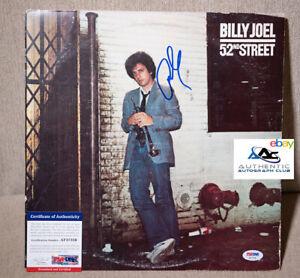 BILLY JOEL AUTOGRAPH SIGNED 52ND STREET ALBUM VINYL LP PSA