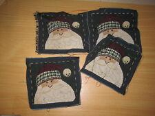 Set of 4 - Christmas Santa Tapestry Pillow Top Fabric Pieces
