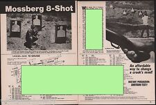 1987 MOSSBERG 500 8-shot Shotgun 4-page Evaluation Article w/exploded parts list