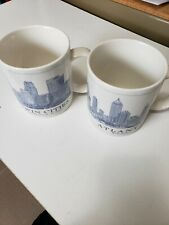 Starbucks Coffee Cup Mugs Atlanta/Twin Cities 2008 Architectural Series Used