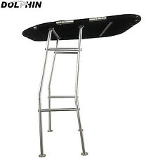 NEW! Dolphin Pro Boat T Top Black canopy | Heavy Duty T Top | Foldable T Top