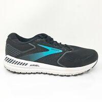 Brooks Womens Ariel 20 1203151D064 Black Blue Running Shoes Lace Up Size 9 D