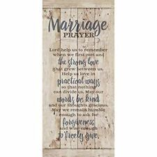 NEW Dexsa Marriage Prayer New Horizons Wood Plaque DX8804