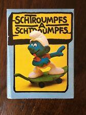 Smurf Super-Schlumpf Skateboardfahrer (Skateboarder) Peyo Vintage 1970's Germany