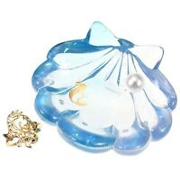 Disney Store The Little Mermaid Jewelry Accessory Tray & Flounder Ring Figure