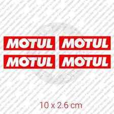 "4x MOTUL car bumper sticker motor oil Honda 3.9 x 1.1"" 10 x 2.6 cm"