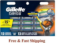 12 GILLETTE FUSION 5 Proglide Power Flexball Blade Cartridge Fit Flex Ball Razor