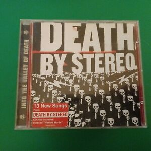 """CD DEATH BY STEREO  """" into the valley of death """"  thrash metal"""