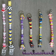 Character Personalised Keyring or Bag Zip Clip Harry Potter & Many More