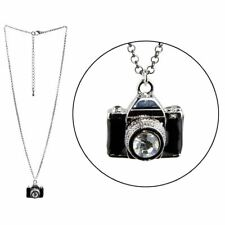 Vintage Black Camera Style Pendant Necklace with Chain - Joe Cool Photographer