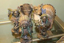 Vintage 5 Pieces SouthWestern Reflection Collection Native American Figurine Set