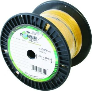 Power Pro 21100653000Y Spectra Fishing Line 65 lb. 3000 Yd Yellow High Vis