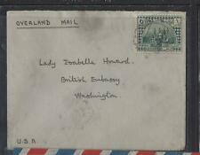 IRAQ (P1502B)  1927 6A OVERLAND MAIL TO USA
