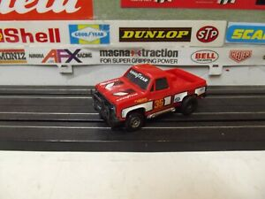 AURORA  AFX RED GMC PICKUP #35 GOODYEAR With MAGNA-STEER CHASSIS HO SLOT CAR