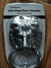 Sandleford Satin Chrome Lion Head Door Knocker