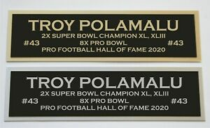 Troy Polamalu nameplate for signed jersey football helmet or photo