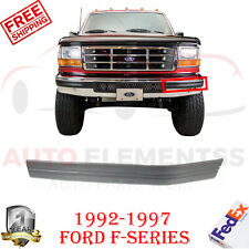 Front Bumper Molding Left Hand Driver Side For 1992-1997 Ford F-Series Pickup
