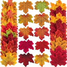 300 X Artificial Autumn Maple Leaves Mixed Colored Leaf Home Party Decor 8cm