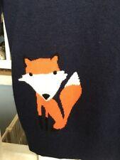 Nwt J. Crew Intarsia Fox Navy Sweater S