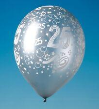 Tib Heyne Luftballons mit Druck 25 Silber