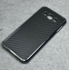 For Samsung Galaxy A8 2015 Black Carbon Fiber Chrome Hard case cover