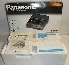 EX CONDITION Panasonic RR-830 Standard Cassette Transcriber Recorder Foot Pedal