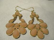 """AVON Southern Sparkle Chandelier Earrings """"Impatiens Pink"""" Goldtone/Hook 2 1/2""""L"""