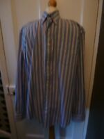 Gant  Pinpoint Oxford XL Regular Fit  Blue Striped Cotton Long Sleeve vShirt