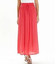 Cotton Patternless Plus Size Maxi Skirts for Women