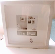 Ikea Ribba 23x23cm 9x9in Wooden Square Box Frame Picture Photo Display White