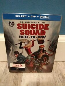 Suicide Squad Hell * To * Pay Blu-ray + DVD Only@ TARGET Exclusive Steelbook NEW