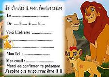 5 cartes invitations anniversaire La Garde du Roi Lion 04