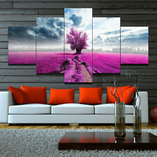 Large Canvas Huge Modern Lavender & Tree Art Oil Painting Picture Print Unframed