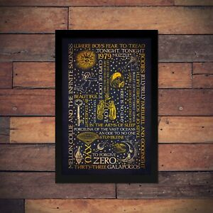 Smashing Pumpkins - Mellon Collie and the Infinite Sadness Typographic Poster