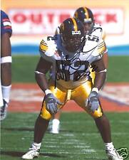 Abdul Hodge Autographed Hawkeyes 8x10 Photograph