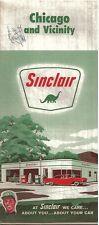 Chicago  1963  Map Sinclair Oil
