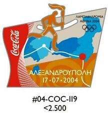 ALEXANDROUPOLIS ΑΛΕΞΑΝΔΡΟΥΠΟΛΗ TORCH RELAY GREEK ROUTE COCA COLA ATHENS 2004 PIN