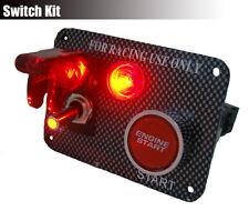 Universal 12V Ignition Engine Start Push Starter Button Panel Toggle Switch 3011