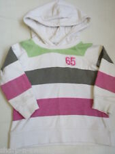 ☆ NEXT Girls 100% Cotton Striped Hooded Hoodie Jumper Sweater Top Age 4 years ☆