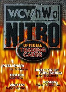 TOPPS 1999 WCW  NWO NITRO BASE / BASIC  CARDS  1 to 72 CHOOSE