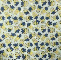 "Minions Fabric-FQ-Fat Quarter-100%Cotton-Quilting/Masks-Licensed-18"" x 21""-HTF"