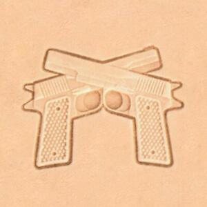 Ivan 3D Handcrafted by Leather Stamp - Crossed Pistols (8690-00)