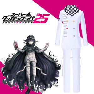Danganronpa V3 Killing Harmony Ouma Kokichi Cosplay Costume Outfit Cloak Hat Wig