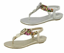 Sandali e scarpe casual marrone con da infilare per il mare da donna