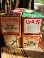 LOT OF 4 QRS PLAYER PIANO WORD ROLLS ANTIQUE VINTAGE MUSIC SONGS / Christmas etc