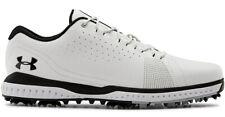 Under Armour Fade Rst 3 sapatos de golfe 3023330-100 Masculino Branco Novo
