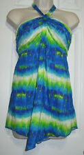 **CATO** Halter Asymmetrical  Blouse Size ((S))100% Rayon. New/W/Tag $16.99