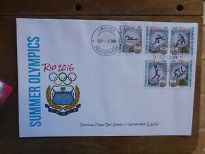 SAMOA 2016 RIO OLYMPIC GAMES SET 5 STAMPS FDC FIRST DAY COVER