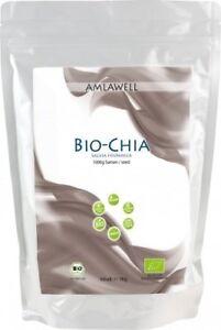 Amlawell BIO ChiaSamen schwarz 1kg VEGAN Salvia Hispanica GLUTENFREI LAKTOSEFREI